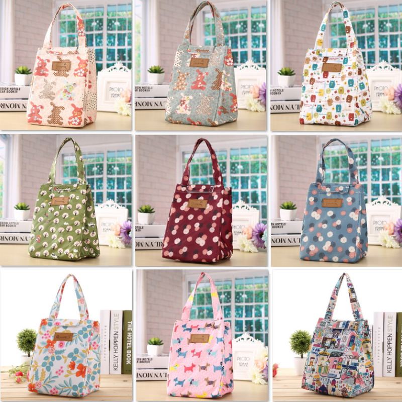 1PCs/Set New Fresh Insulation Cold Bales Thermal Oxford Lunch Bags Waterproof Convenient Leisure Bags Cute Animal Tote Bag Bolsa