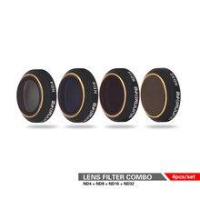Кнопки на ND Фильтры комплект 4 шт. ND4/8/16/32 Объективы для фотоаппаратов фильтр Комплект комплект для DJI для dji Мавик Pro/Mavic платины Камера Drone