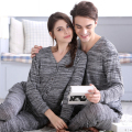 Couple pajamas for women and man cardigan gray pajamas sets knit V-neck tops homewear winter warm pajamas suit home suit women