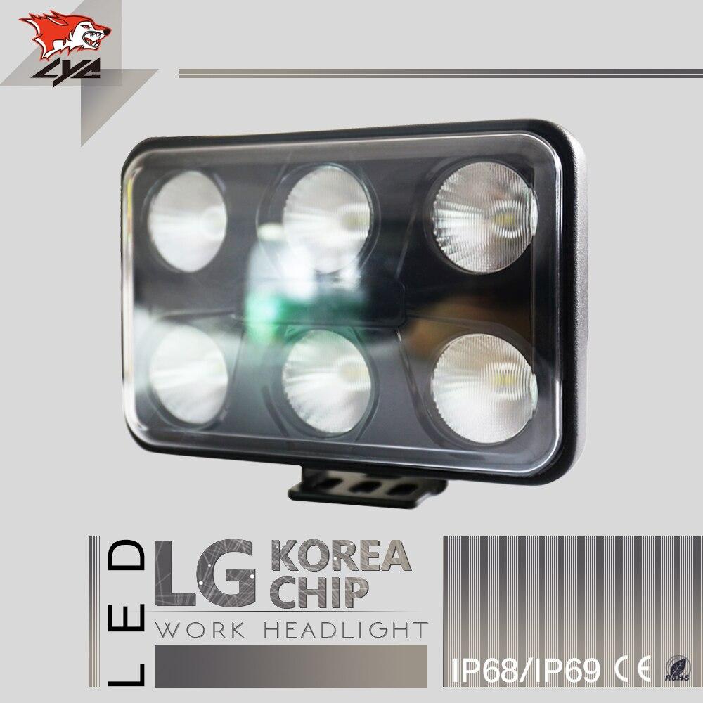 Лицей светодиодные фонари для автомобилей светодиодные Трактор сигнальная лампа белый и желтый цвета светодиодные фонари для автомобилей от дорожных фар 4500LM