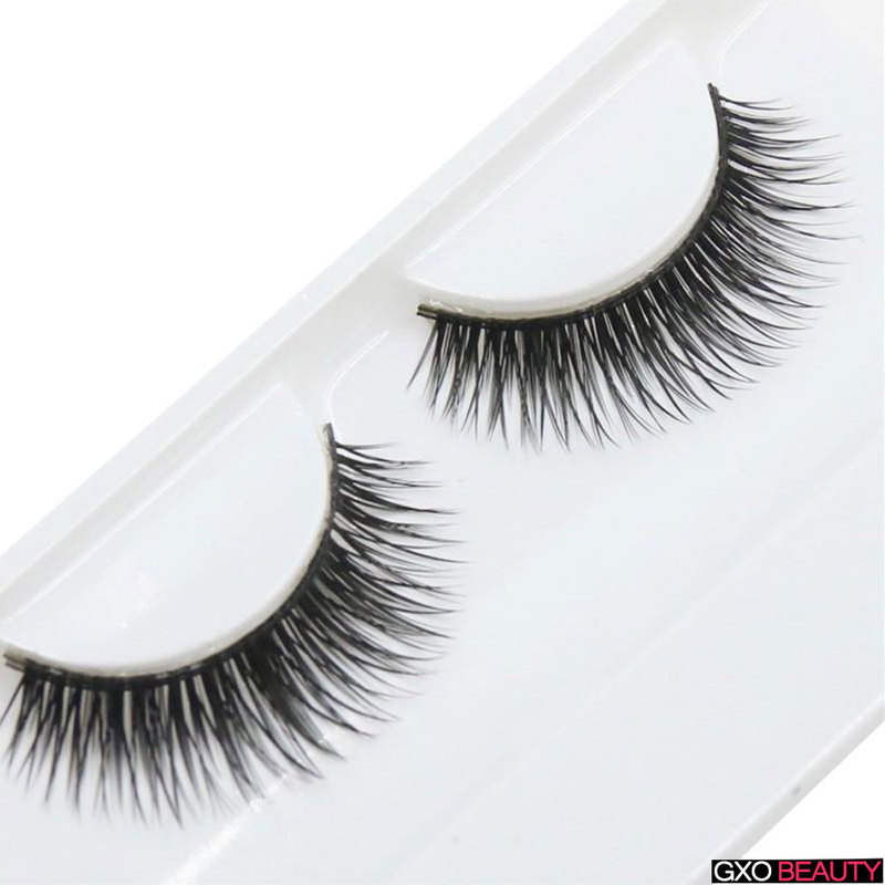 GXO BEAUTY 1 Pair 3D False Eyelashes Messy Natural Fake Eye Lashes Professional Makeup Tips Long False Eye Lashes