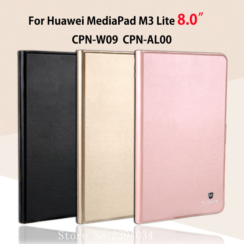 Luxury Slim Cover Case For Huawei Mediapad M3 Lite 8.0 CPN-W09 CPN-AL00 8 Smart Case Funda Tablet PU Leather Stand Skin Shell for 2017 huawei mediapad m3 youth lite 8 cpn w09 cpn al00 8 tablet pu leather cover case free stylus free film
