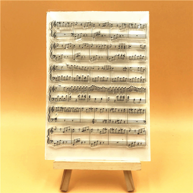 Music score Transparent Clear Silicone Stamps for DIY Scrapbooking Card Making Kids Christmas Fun Decoration Supplies