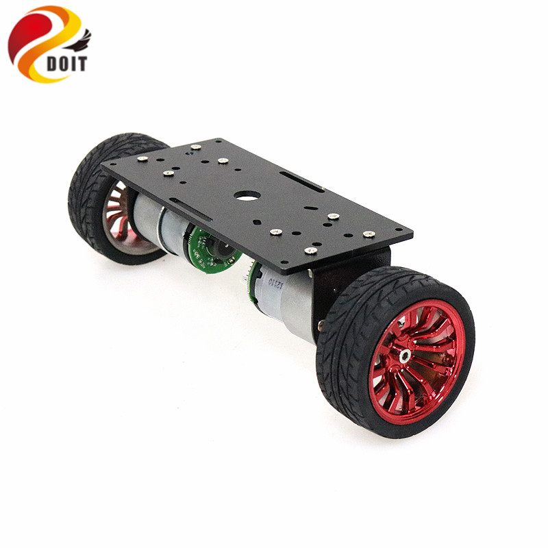 2wd Two Rounds Of Self-balancing DC 12V Motor Car Two-wheel Balancing Car Smart Car Chassis Kit