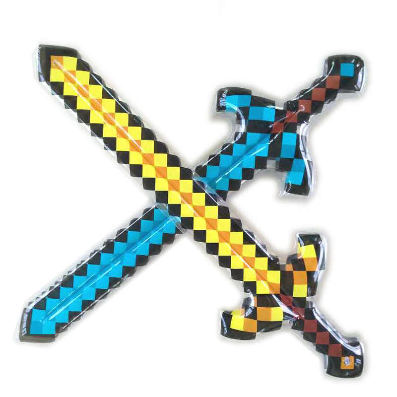 High Quality Balloon Axe Swords Perfect Minecraft Diamond Balloons Sword Action Party Toy Christmas Gifts