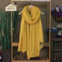 Scarves new female literary Sen spring autumn winter scarves cotton scarves for men women feel solid long sunscreen 726014
