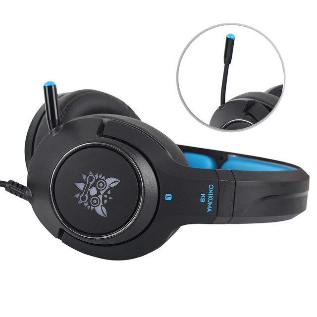 Auriculares para juegos ONIKUMA K9 para ordenador portátil/PS4/Xbox One, auriculares estéreo con micrófono para ordenador y luz LED