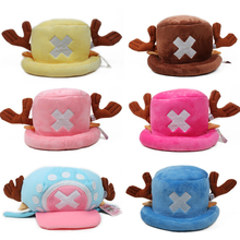 Cute Japanese Muts Anime Hat Cap Chopper One Piece Tony Cosplay Plush Halloween Cartoon Hats Caps