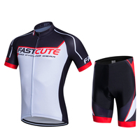 FASTCUTE Short Sleeve Cycling Jersey Set Men MTB Bike Clothes Summer Bicycle Clothing Bike Kit Maillot