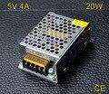 Alta calidad 5 V 4A 20 W adaptador de corriente de Conmutación Controlador de fuente de Alimentación para la Tira del LED LED cartelera pantalla industrial equipo