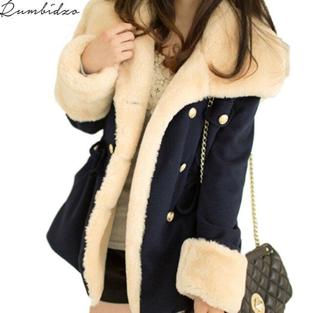 2017 Базовые куртки для женщин для Для женщин осень и зима Повседневное одноцветное утолщение тонкий двубортный Колледж ветер хлопок пальто Для женщин