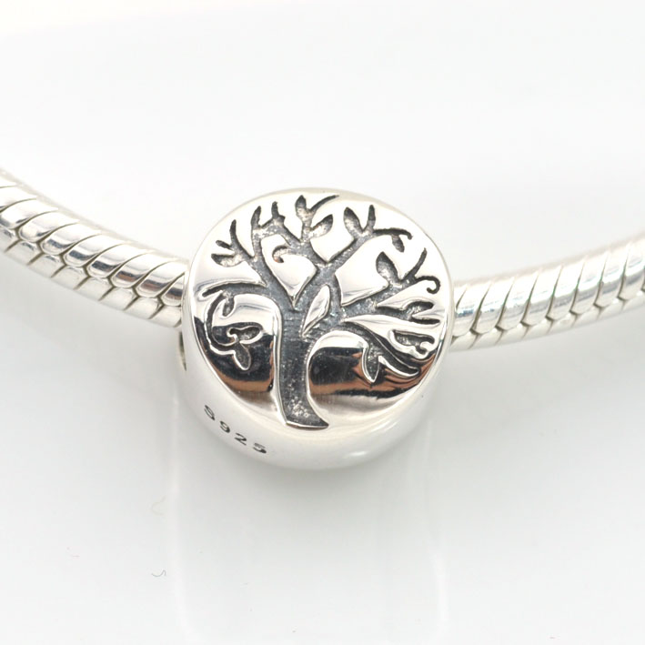 New Arrival Original 925 Sterling Silver Bead Letter Tree
