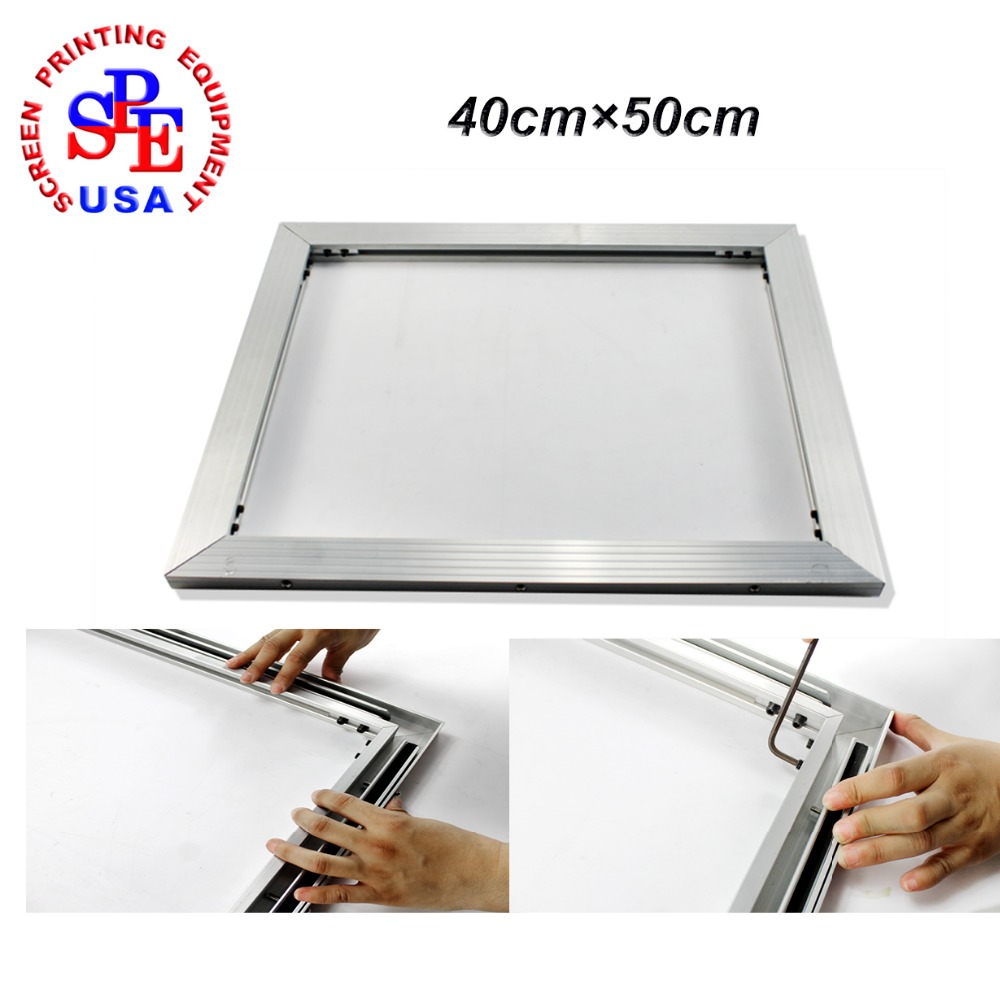 inner size 40*50cm screen frame 2015 type self-tensioning screen frame easy operate high quality no need strecter цена