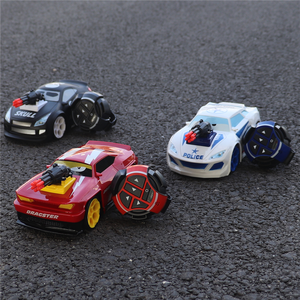 RC Electric Voice Command Watch RC Car Dragster Skull Police Drift Racing Dispara Misiles Multiplayer Fights Remote Control Cars
