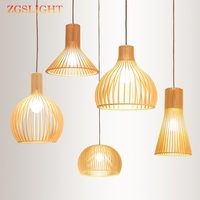 Nordic Wood Pendant Lights Loft Led Decor Pendant Lamps Fixtures Kitchen Living Room Hanging Lamps Bedroom Luminaria Suspension