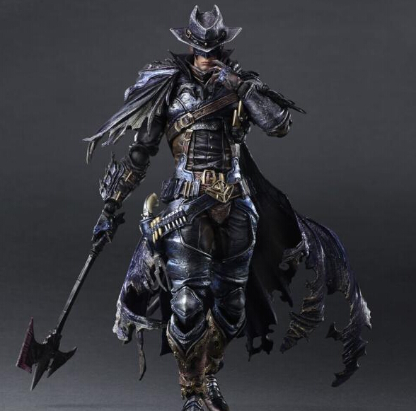 West Cowboy Batman Action Figure Play Arts Kai PVC Figure Toy 270MM Anime Movie Bat Man West Cowboy Blue Version Figure Toys туфли nine west nwomaja 2015 1590