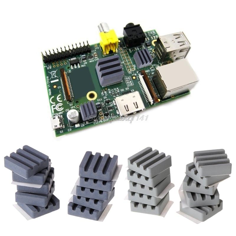 10 PCS Ceramic Heat Sinks CPU Cooling dissipador for Raspberry Pi 3 2B Orange Pi Nov01 Drop ship