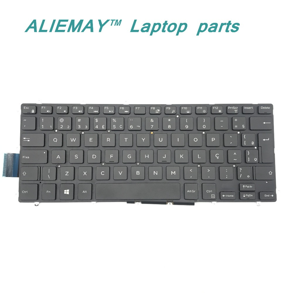 BR Bazil Keyboard for DELL inspiron 5368 5378 7368 7378 7460 7466 7467 7560 7472 7572 Latitude 3379 also laptop /w backlight