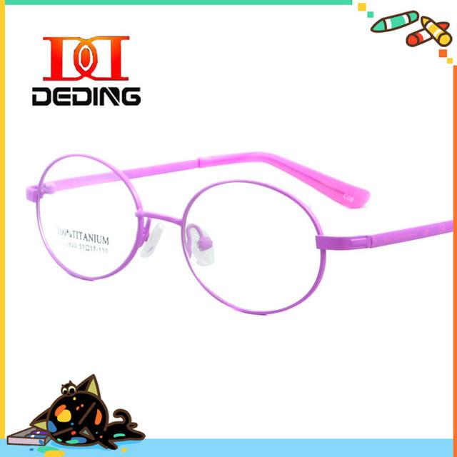 Дети прекрасный круглый титана полный кадр очки студенческих оптических близорукость очки кадр Estudantes óculos де грау DD0608