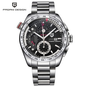 Image 4 - ออกแบบ PAGANI Mens นาฬิกาข้อมือกีฬา Quartz นาฬิกาดำน้ำกันน้ำชายนาฬิกา Chronograph นาฬิกาข้อมือทหาร relogio masculino