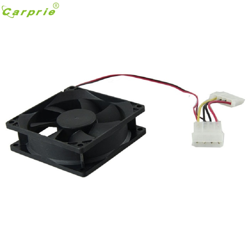 Adroit Computer Case Cooler 12V 8CM 80MM PC CPU Cooling Cooler Fan MAR26 personal computer graphics cards fan cooler replacements fit for pc graphics cards cooling fan 12v 0 1a graphic fan