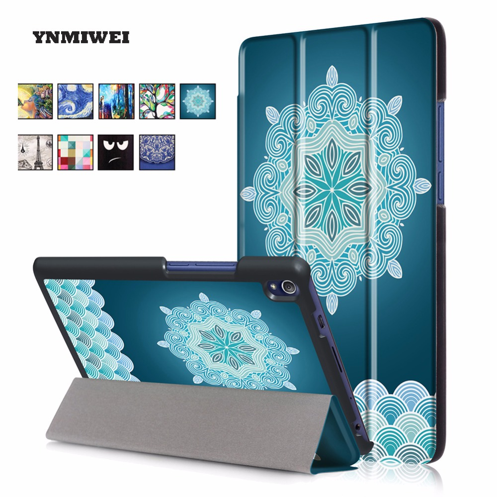 Tablet Cases For Lenovo Tab3 7 Plus TB 7703F TB 7703X TB 7703 Pu Leather Painting