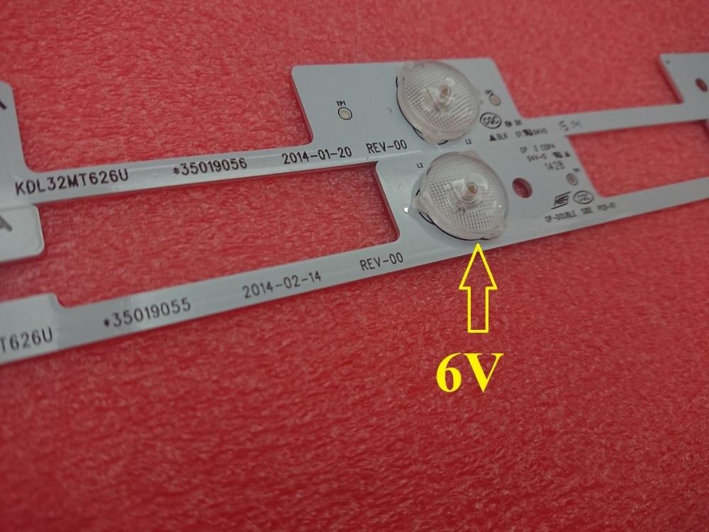 300 pcs 3 4LED 6V LED strip bar for KDL32MT626U 35019055 35019056
