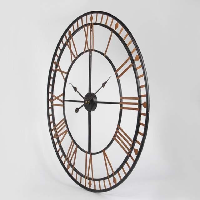 ffd1bd9c2 80CM Large Wall Clock Saat Reloj Clock Duvar Saati Roman numerals Hollow  Wall Clocks Metal Klok Horloge Murale Watch Wandklok -in Wall Clocks from  Home ...