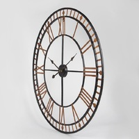 Battery Wall Clock Antique Style Mural Roman Hollow Creative Quartz Big Wall Clock Living Room Office Wall Decorations