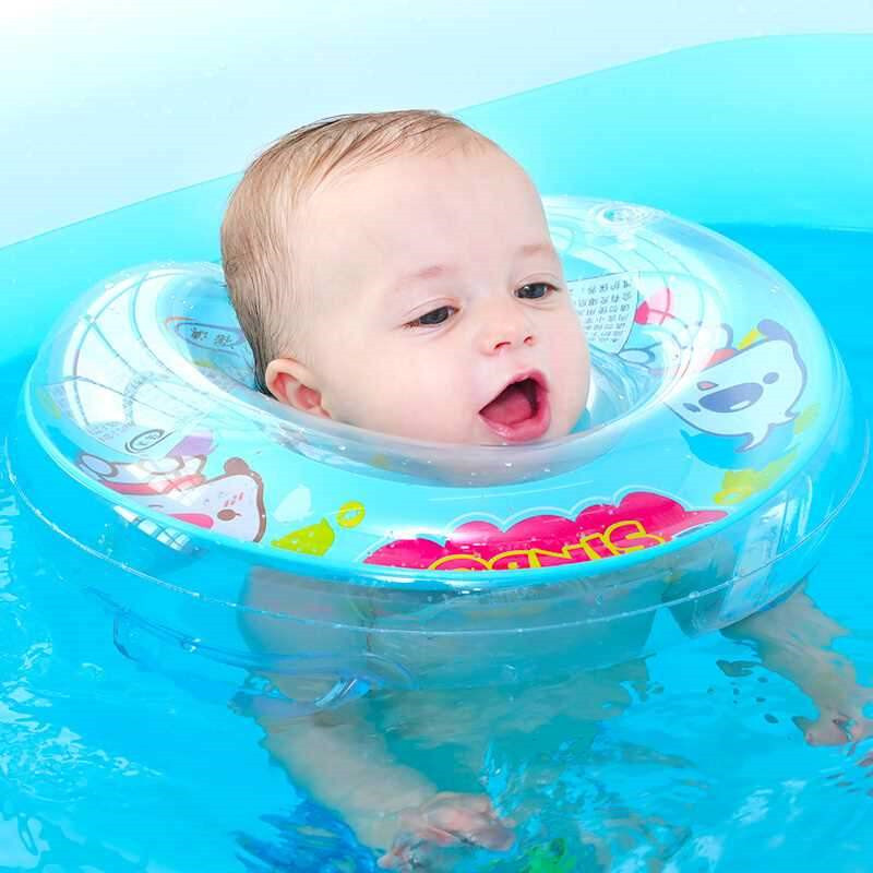 Newborns Bathing Circle Inflatable Baby Swimming Ring Infant Neck Float Circle Summer Swim Safety Pool Accessories Toys YY01