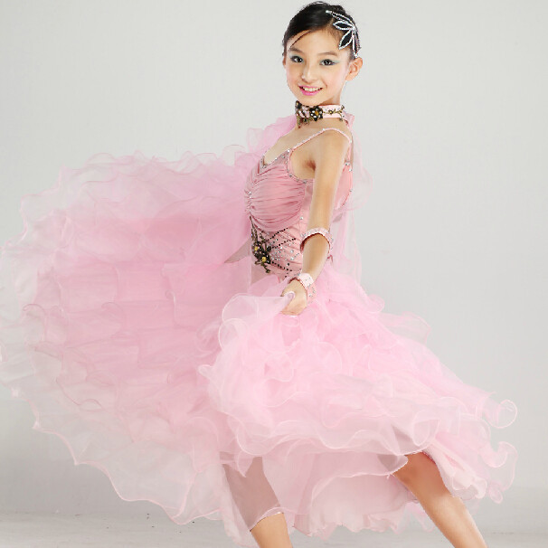 B7456 Ballroom swing Tango Waltz Competition dance dress us 10 black white