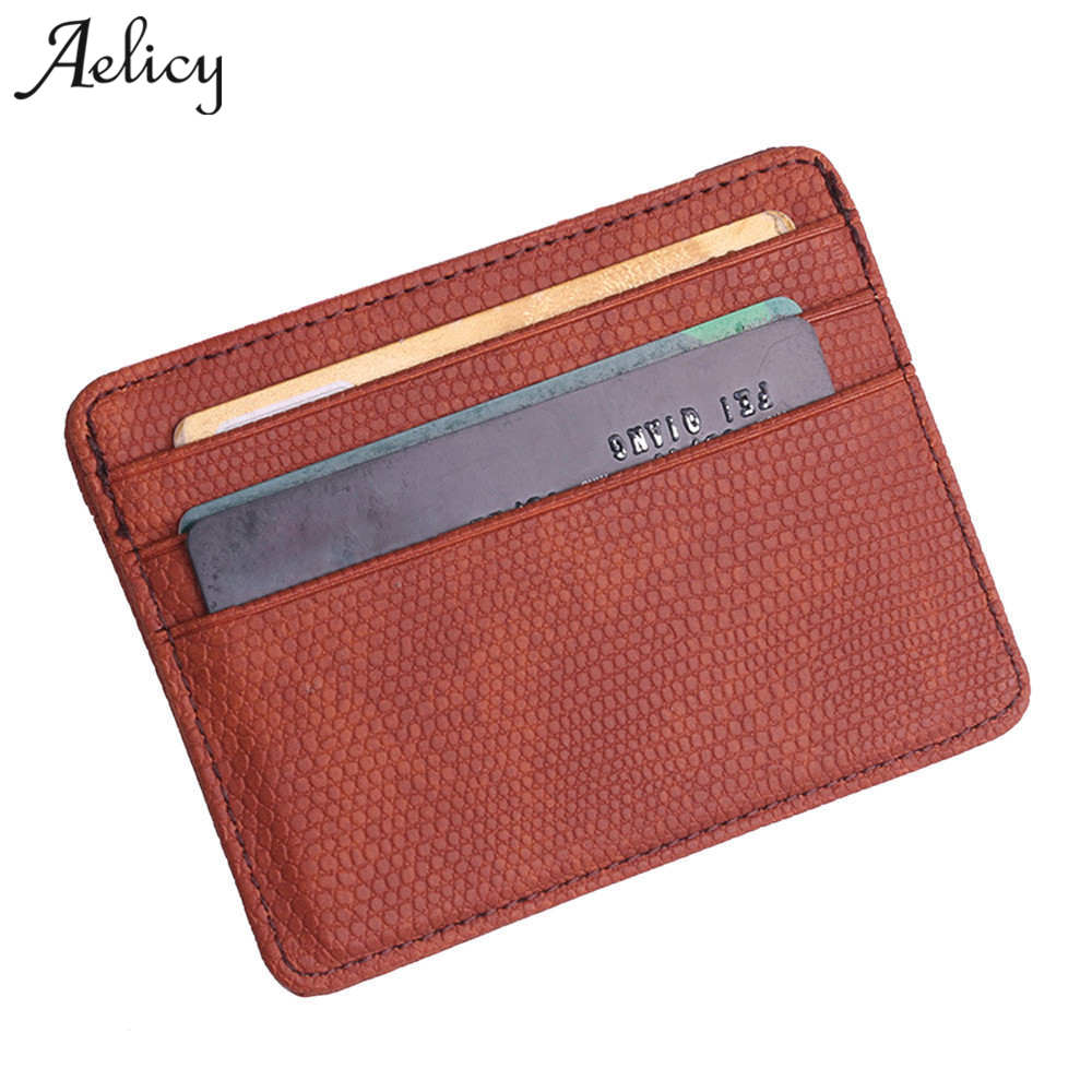 Aelicy New Vinage Leather Credit Card&ID Card Holder Wallet Business Bank Card Bag Case Coin Purse Unisex Men&Women Carteira