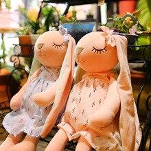 Long Ears Cute Rabbit Doll Baby Soft Plush Toys For Children Rabbit Sleeping Mate Stuffed Plush Animal Baby Toys For Infants