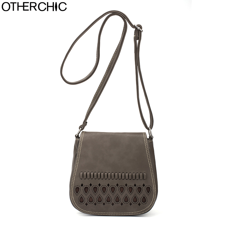 OTHERCHIC Stylish Designer Crossbody Bags Small Women Bags Brand Fashion Hollow Out Messenger Bags Girl Saddle Bag Purse 8N05-10