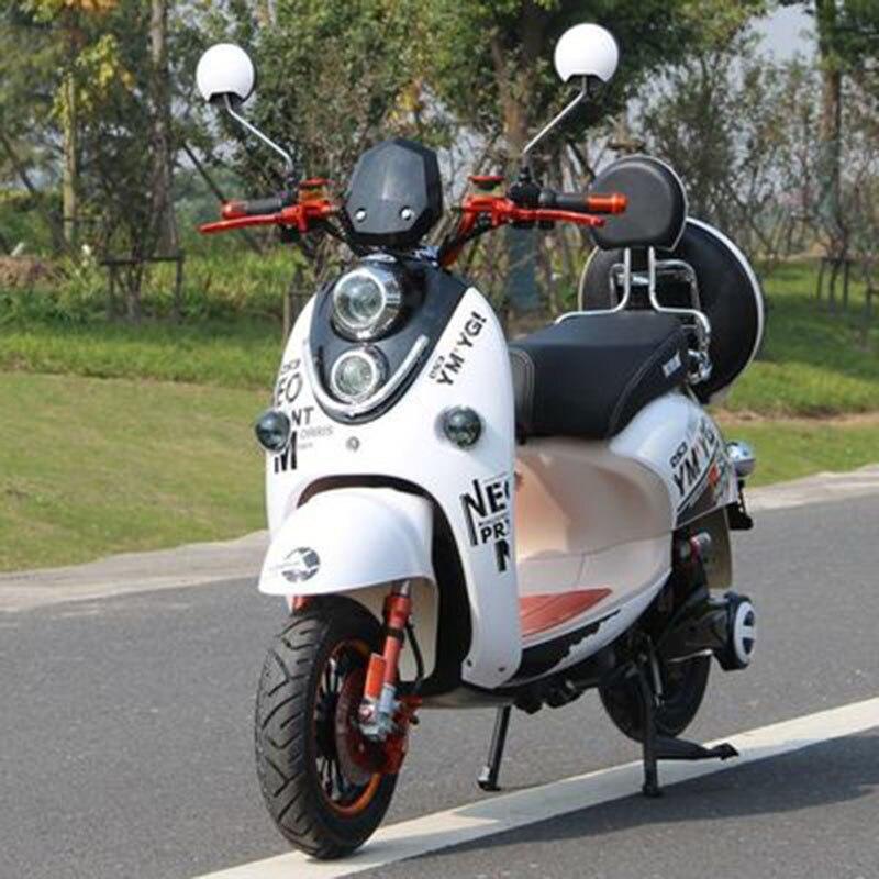 Moto électrique 60V20A LED lumière lumineuse prise de charge de téléphone portable pratique pour commencer Citycoco Scooter électrique ebike