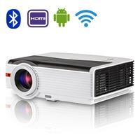 CAIWEI WI FI Android Bluetooth 4,0 светодиодный проектор ЖК дисплей дома Театр ТВ Аудио Видео Proyector 5000 люмен Поддержка Full HD 1080 P