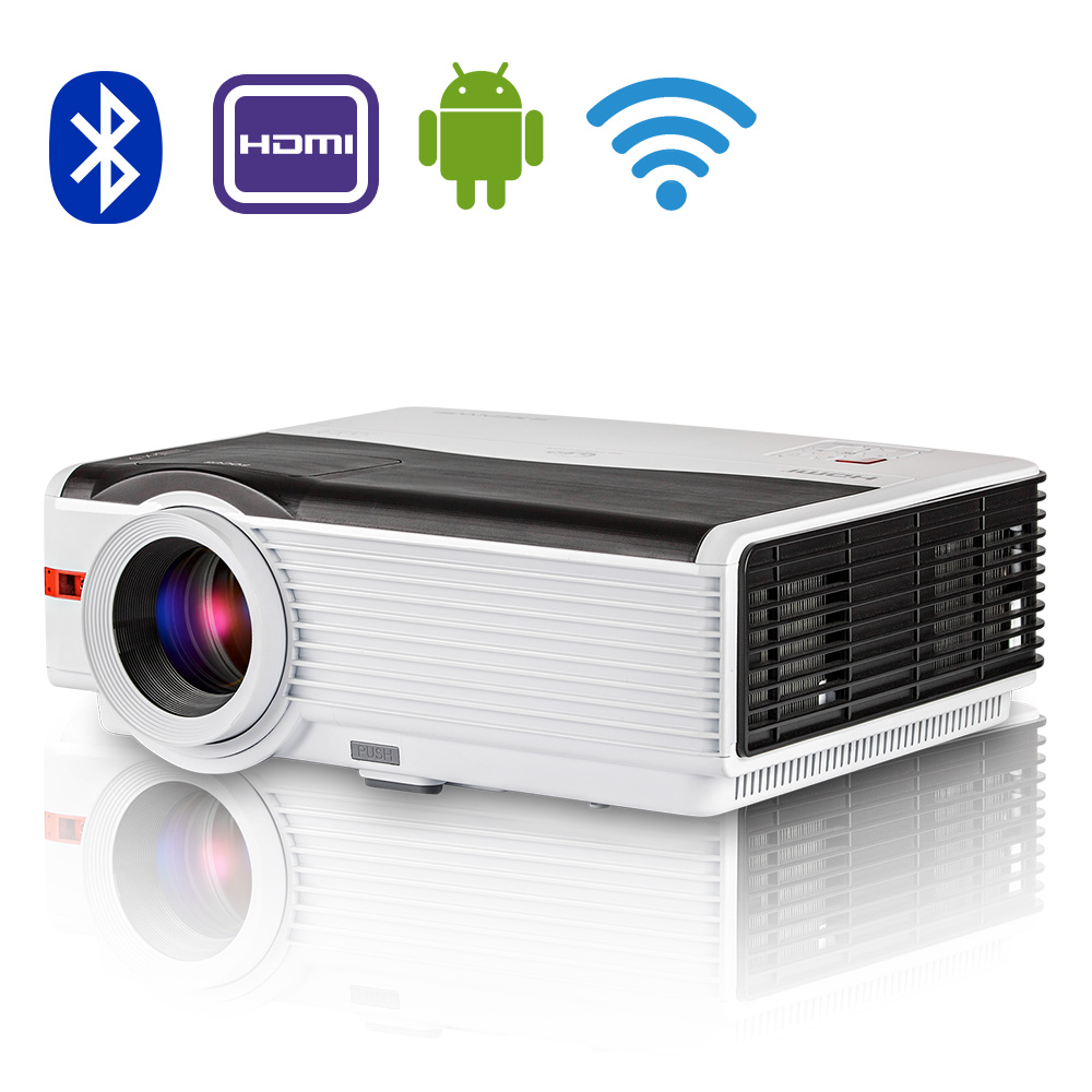 CAIWEI WIFI Android Bluetooth 4.0 LED Projector LCD Home Theater TV