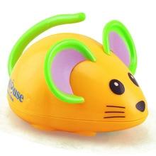 Купить с кэшбэком Wind Up Toys Gift Cartoon Animal mouse Running Car Crawling Kids Mini Jumping Pull Back Clockwork Classic Cute Baby Toys Infant
