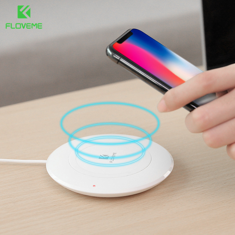 FLOVEME QI Wireless Charger For iPhone X 9 8 Plus Charger Charging For Samsung Note9 S9 S9 Plus S8 S8 Plus S7 Charger For Phone