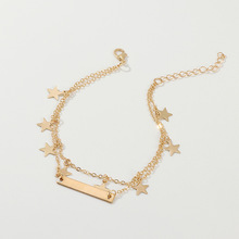New summer Europe and America anklet women Fashion simple stars beach fashion jewelry small goods