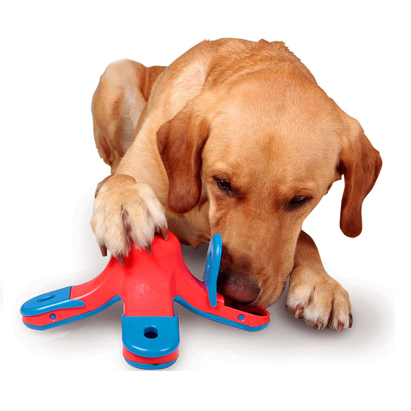 Plastic Dog Toys Pet Treasure Hunting Puzzle Toy Products for Animals Kibble Drop Interactive TREAT HIDING PUZZLE GAME