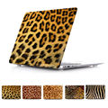 Piel de Animal de la jirafa del grano del leopardo casefor fits macbook 11 12 13 15 aire Retina caja del ordenador portátil