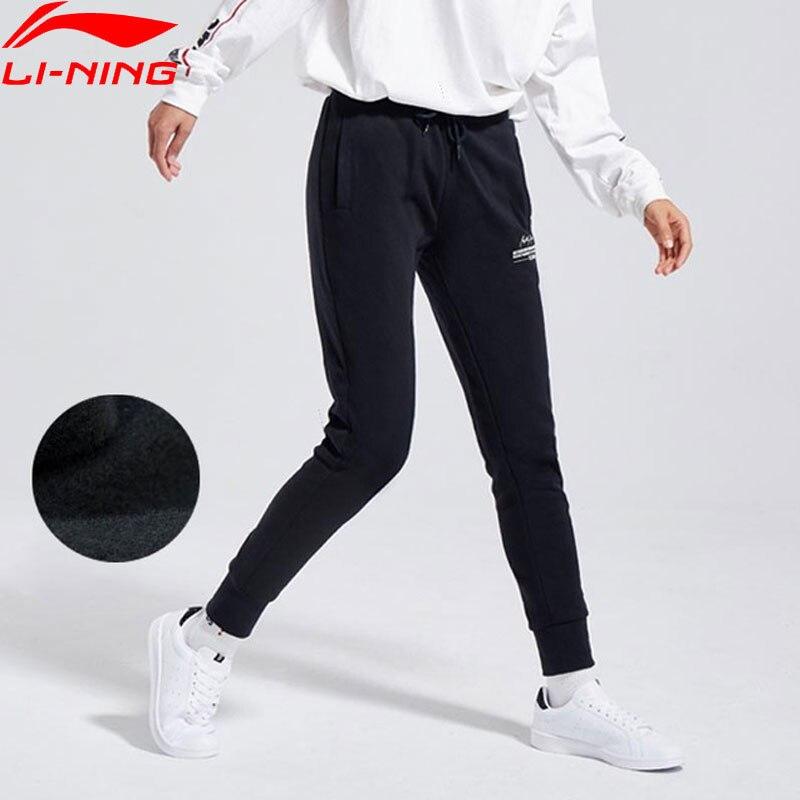 (Break Code)Li-Ning Women The Trend Pants Warm Fleece 62%Cotton 38%Polyester Li Ning LiNing Sports Sweat Pants AKLN702 WKY198