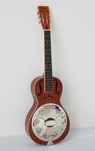 Electric Mahogany Parlour Resonator Guitar Free Plywood Case Straps Highway 61 Model Travel TRG