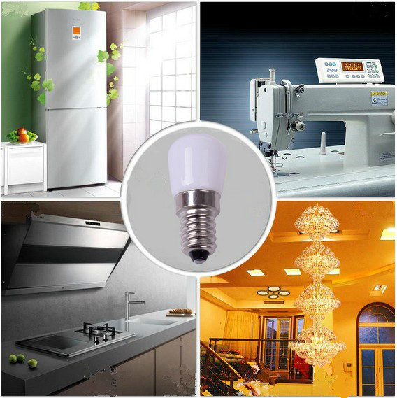 2PCS  LED Bulb E14 220V 3W COB Night Light Lamp Decoration For Refrigerator Microwave Chandelier Spot Lamp Not Dimmable
