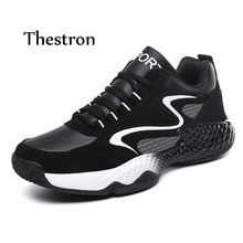Thestron Shoes Men Casual Plus Size 45 Black Male Designer 2018 Fashion Man Luxury High Quality Footwear Lace Up New