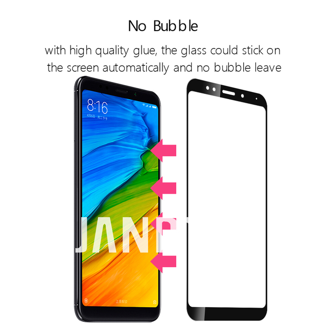 for xiaomi redmi 4 4A 4X 5 plus 5A NOTE 4 4X 5 5A PRO screen protector tempered glass film full cover case accessories
