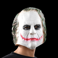 Joker Mask Batman Trang Phục Chú Hề Cosplay Movie Adult Đảng Masquerade Cao Su Mặt Nạ Cao Su cho Halloween