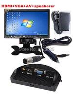 Super HD 7inch LCD TFT Color 1024 600 Built In Speaker Car Monitor Display VGA 2AV