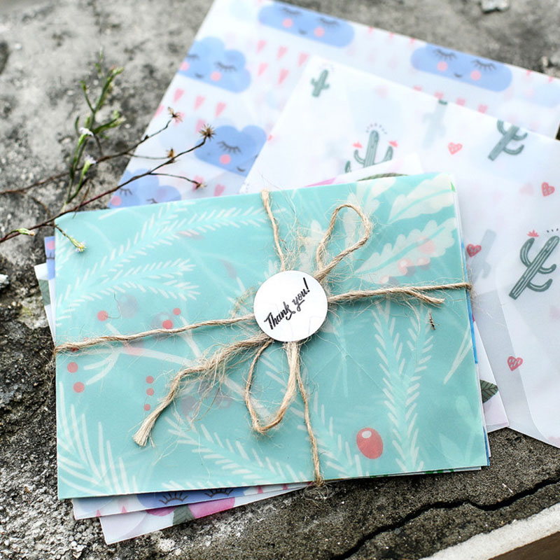 3 Pcs/lot Cute Kawaii Flower Clouds Strawberry Sulfuric Acid Paper Envelope For Postcard Kids Gift School Stationery Supplies